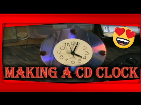 HOW TO MAKE A CD CLOCK YouTube