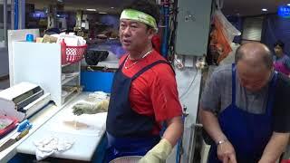 한국 회뜨기 달인(언양알프스 시장), raw fish …