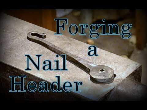 Forging a Nail Header // Let's Make a Blacksmith Nail Header Tool