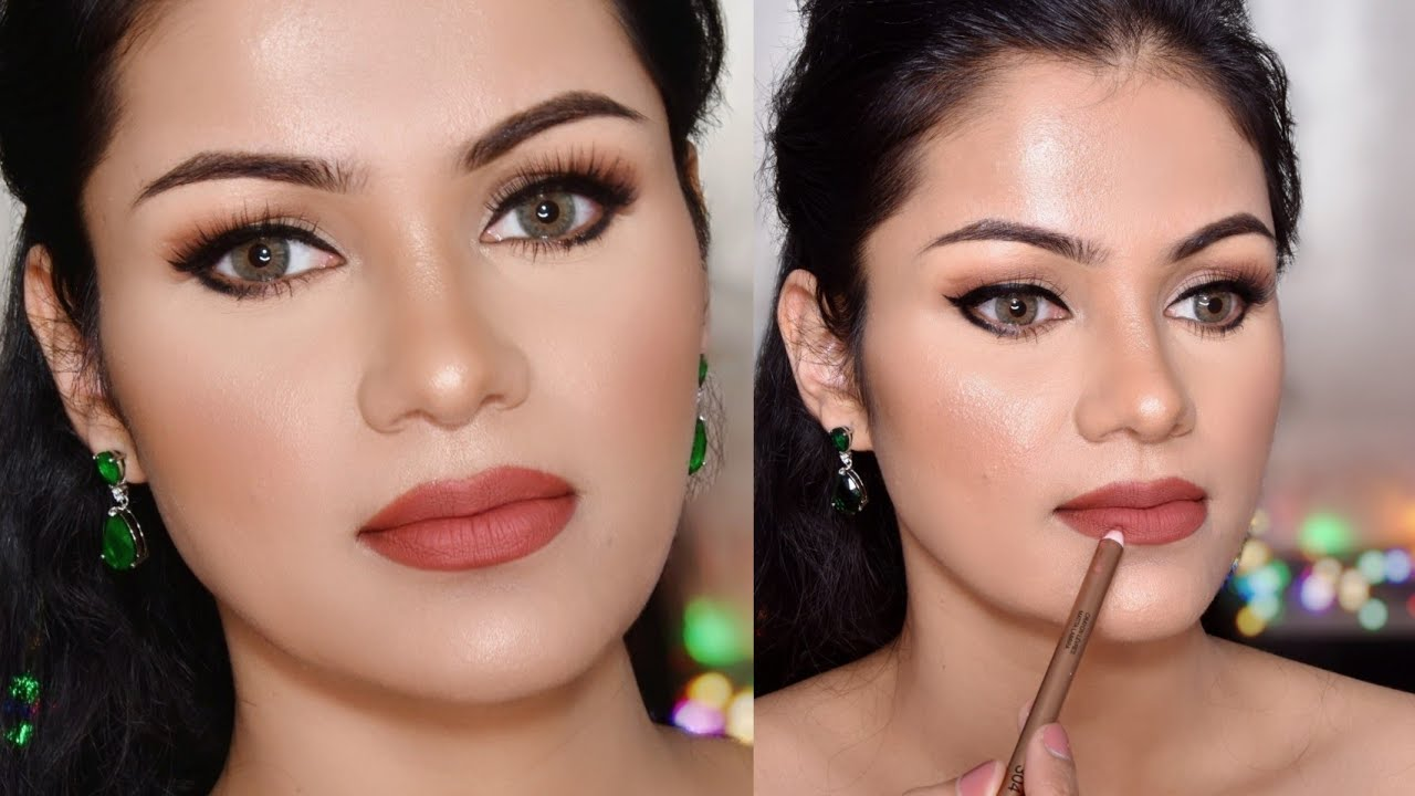 Day Time Angelina Jolie Inspired Cat EYELINER, HAIRSTYLE, NO Foundation, LIP CONTOURING & Makeup