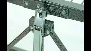 Origami Folding Metal Rack