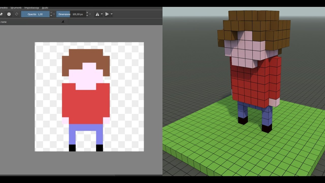 2d To 3d Character From Pixel Art To Voxel Art