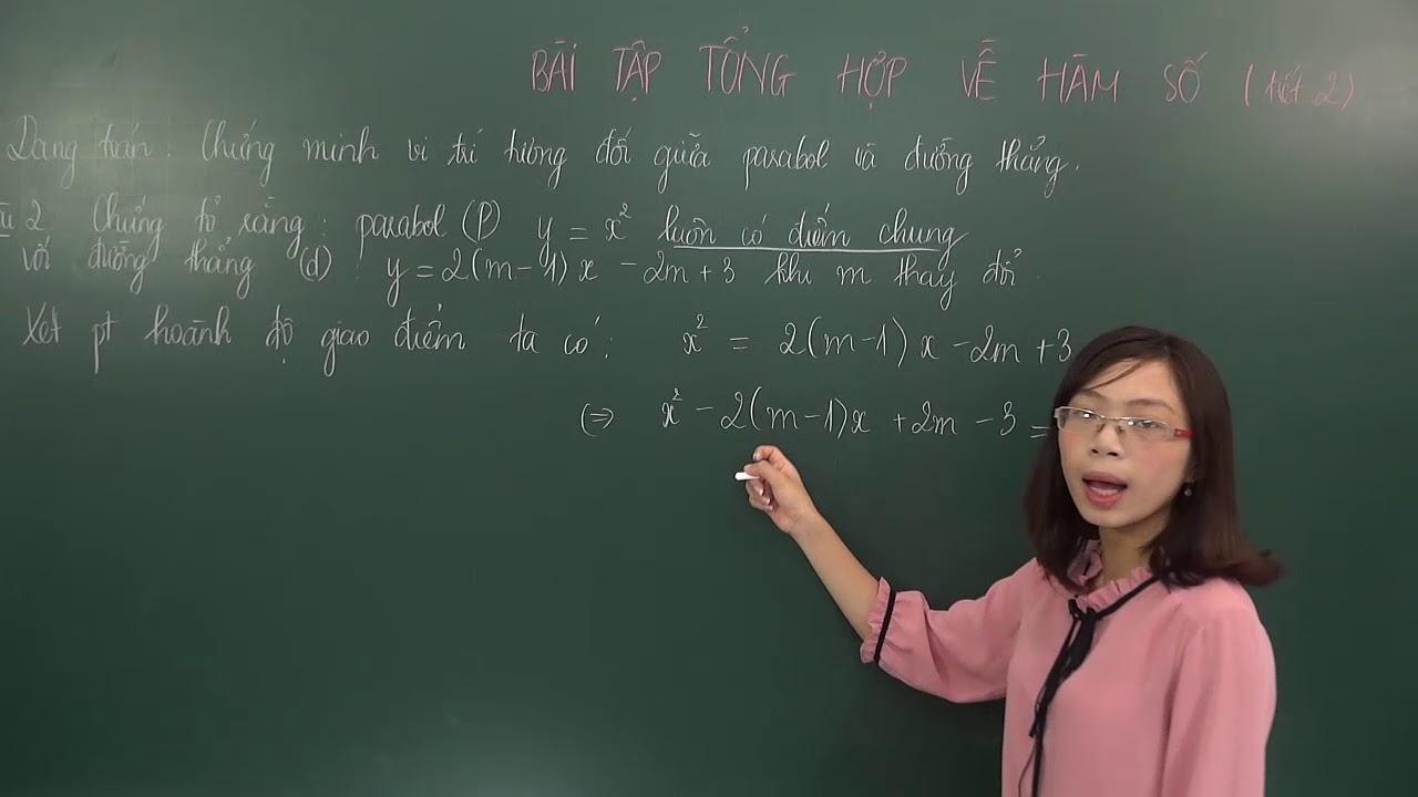 Chứng minh vị trí tương đối của Parabol và đường thẳng – Toán lớp 9