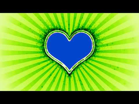 Wedding Love Frame Green and Blue Mat Screen Background Effect HD Video thumbnail