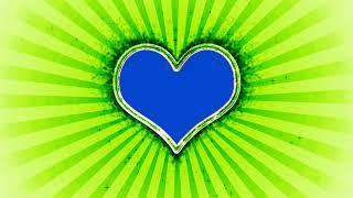 Wedding Love Frame Green and Blue Mat Screen Background Effect HD Video