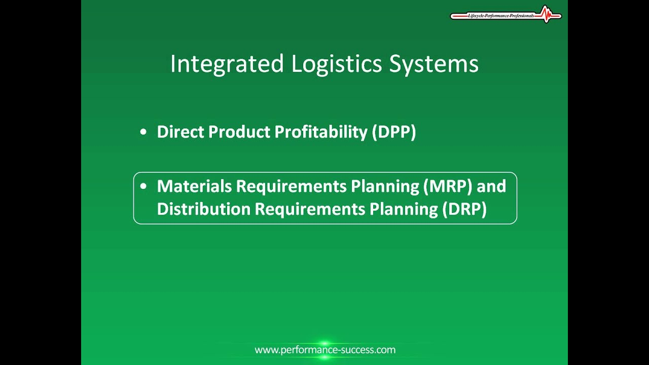 Distribution Resource Planning Drp And Logistics Systems Youtube
