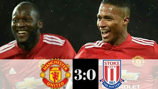 man utd vs stoke highlights