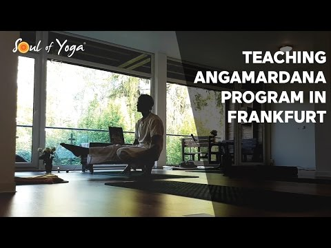 Teaching Angamardana Yoga Program in Frankfurt