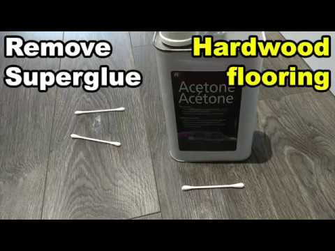 Super Glue From Hardwood Flooring