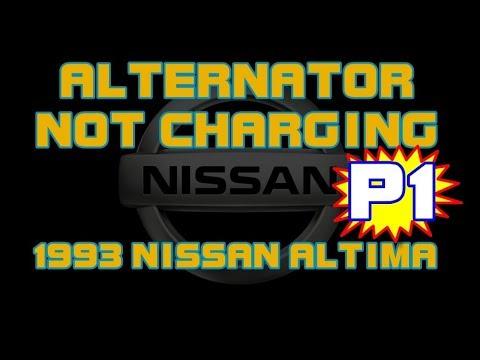 1993 nissan altima - alternator not charging - battery light on - part 1