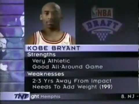 The Beginning  Kobe Bryant drafted to Charlotte (Lakers) - YouTube 6be1ed175