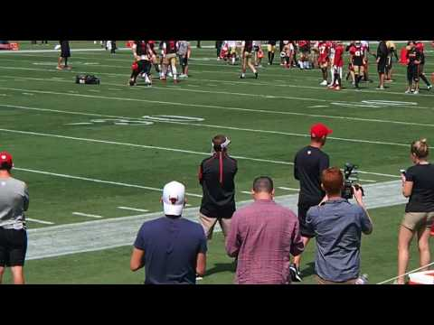 2017 49ers Open Practice 1 vs. 1 drills Trent Taylor Shake and Bake