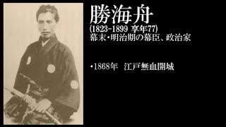 勝海舟 (1823 ~ 1899) 幕末・明治期の幕臣、政治家.