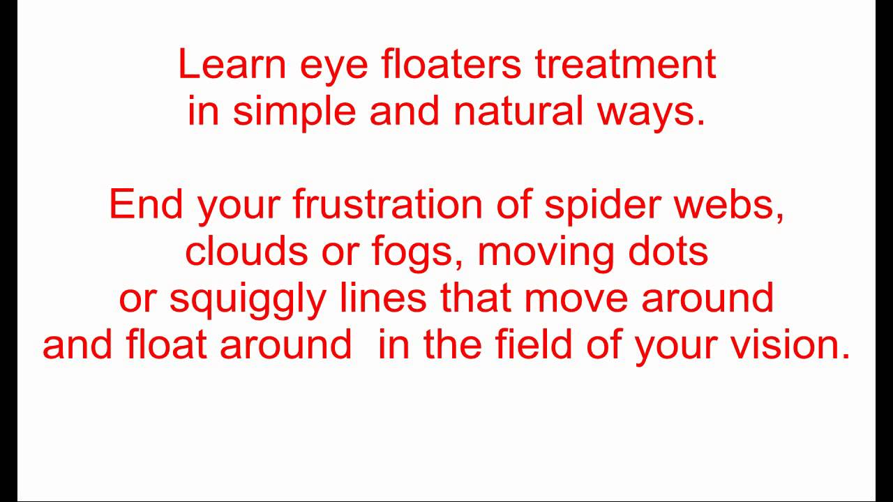 eye floaters no more pdf