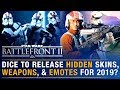 Will DICE Release HIDDEN Content for 2019? Emotes, Skins, Weapons, Stat Screen | Battlefront Update