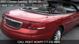 2003 Chrysler Sebring LXi Convertible - for sale in Harrisbu