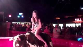 Sexy Girl Losing Her Dress on Bull