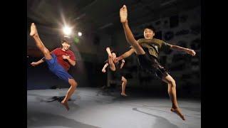宙返りやひねり、蹴りを組み合わせた技で競う新スポーツ「トリッキング...