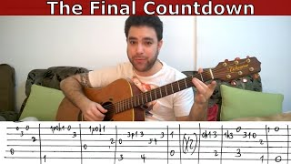 Fingerstyle Tutorial The Final Countdown Full   Guitar Lesson w TAB  LickNRiff