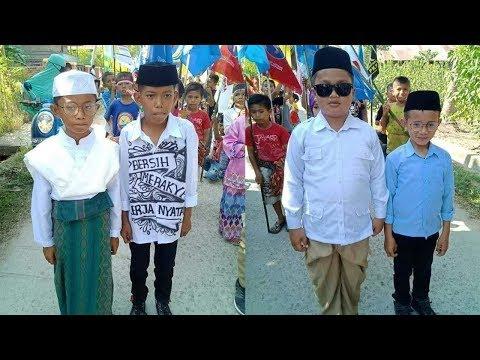 4 Bocah Tirukan Gaya Capres-Cawapres, Mirip Jokowi-Ma'ruf dan Prabowo-Sandiaga