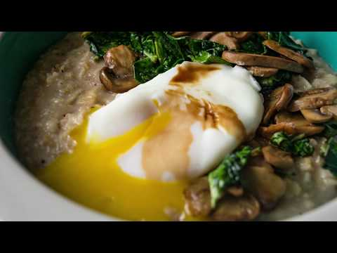 Savory Oatmeal Bowl with Poached Egg