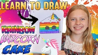 Rainbow Unicorn Cake || Art with Alyssa
