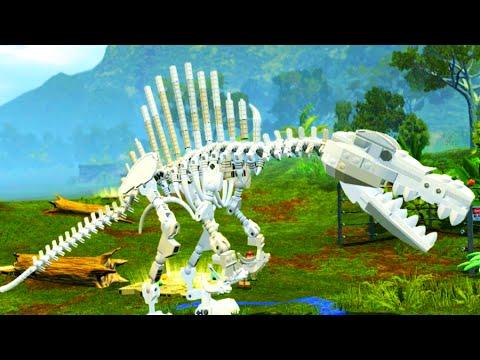 Lego jurassic world spinosaurus skeleton free roam - Lego spinosaurus ...