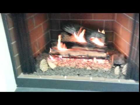 Golden Blount Paul Bunyan Vented Gas Log Set Youtube