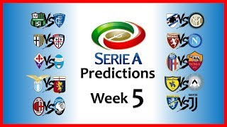 2018-19 SERIE A PREDICTIONS - WEEK 5