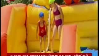 A HABER CANLI YAYINI- Sultangazi'de sıcaklara portatif yüzme havuzu çözümü