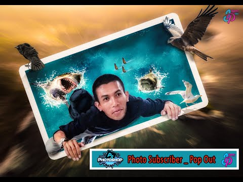 Tutorial Photoshop Pop out | Photo Subscriber thumbnail