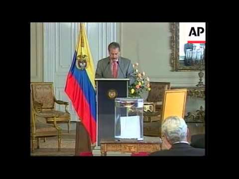COLOMBIA: INVESTMENT FUND FOR PEACE UNVEILED