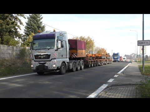 Transport Of Modular Semi-trailer - Nadměrný Náklad - Heavy Transport - Schwertransport