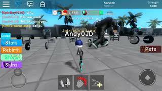 Roblox Weight Lifting Simulator3 noob vs pro