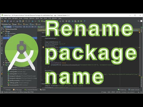 How to rename package name in Android Studio