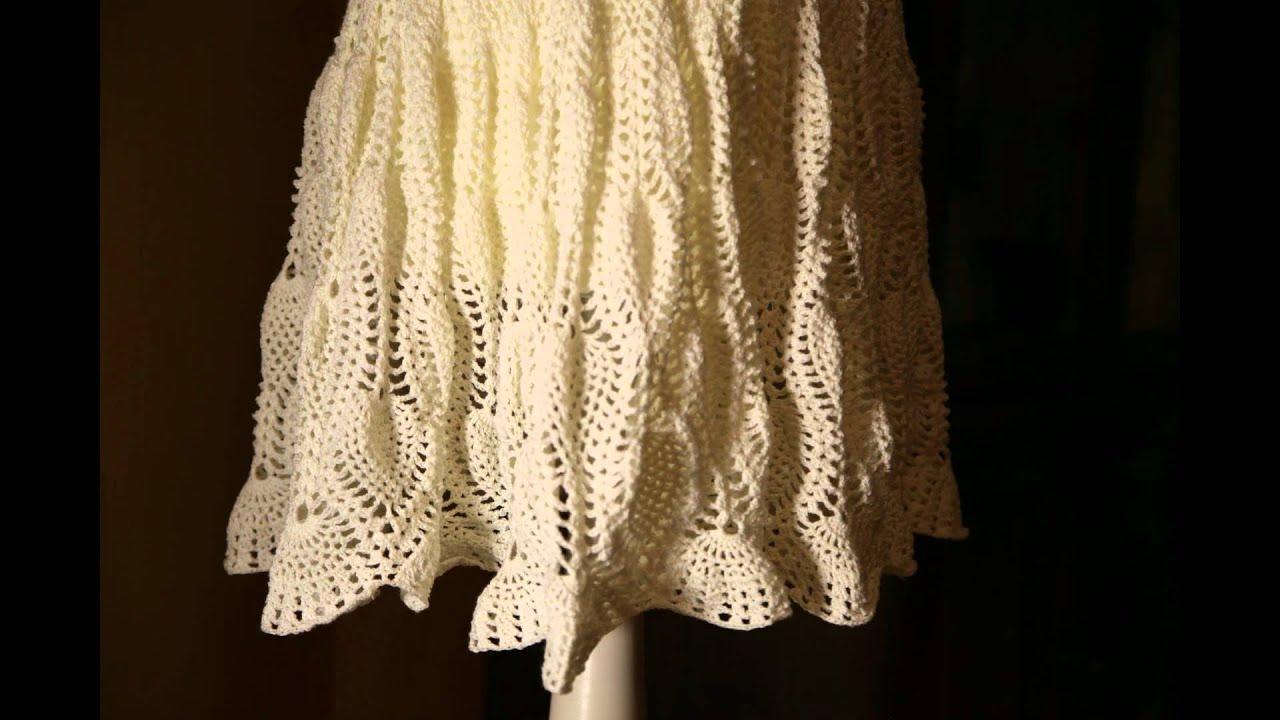 Pineapple Pattern Dress - HaekelnundStricken- Ananasmuster, Kleid ...