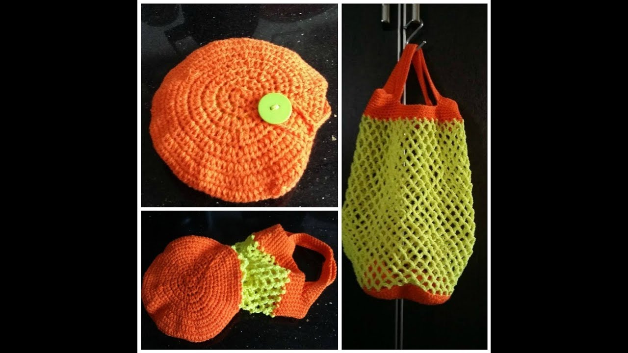 Crochet Filet à Provision Pliable