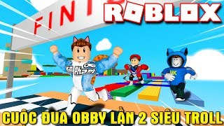 Roblox | The RACE second OBBY SUPER TROLL with VAMY and NAMLKUN-Lynaticos Obby | Kia Breaking