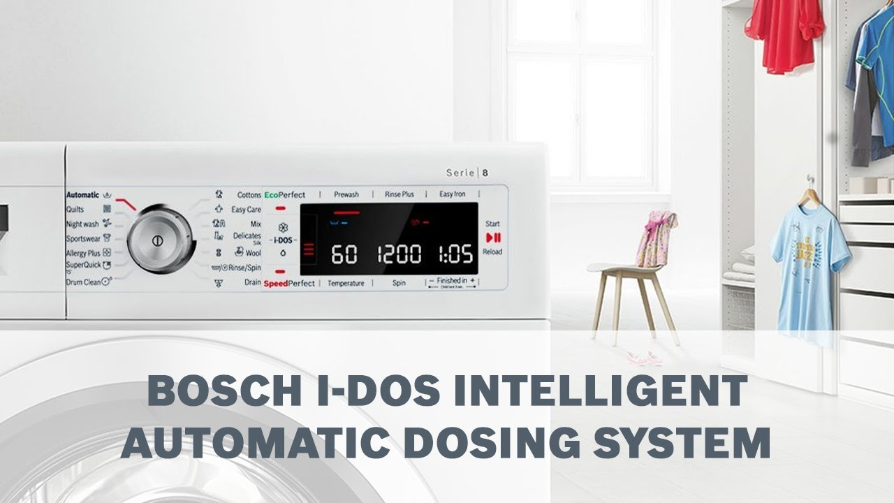 Bosch Washers IDOS Function Explained