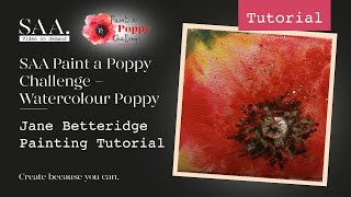 SAA Paint a Poppy Challenge - Jane Betteridge Poppy Tutorial