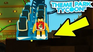 The FLOORLESS COASTER in Theme Park Tycoon! | Roblox