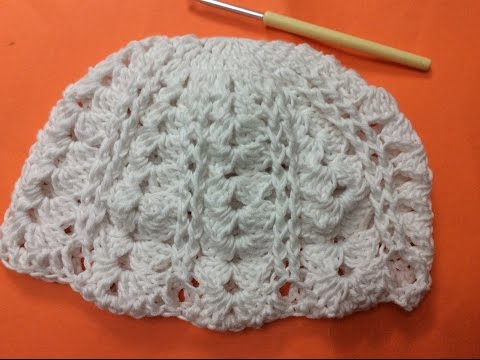 Cach moc mu len nu phan 1 - How to crochet a hat part 1