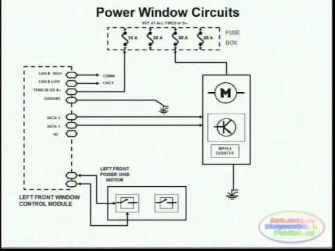 hqdefault power window wiring diagram 2 youtube power window switch wiring at couponss.co