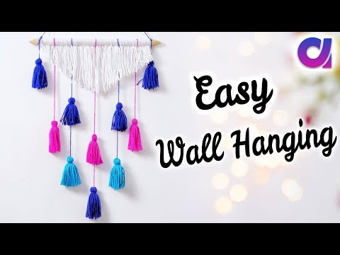 DIY : Awesome wall hanging idea from wool | Waste Wool Craft Idea | Easy Home Decor | Artkala