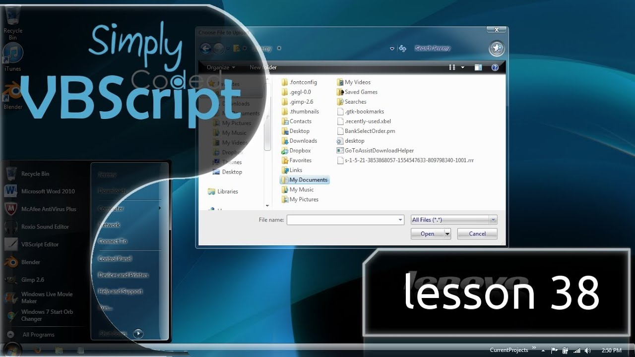 VBScript Basics, Part 38 | BrowseForFile
