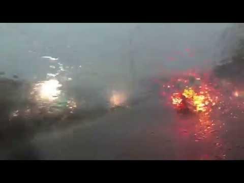 Lightning hits CTA station - 7/24/2016