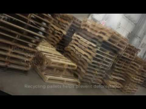 Wood Pallet Recycling - YouTube
