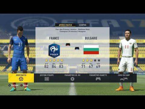 France - Bulgarie [FIFA 17] | Qualif. Coupe du Monde 2018 (2ème Journée - Groupe A) | CPU Vs CPU