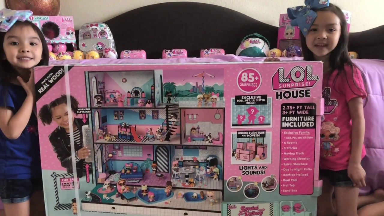 Lol Surprise Doll House Dollhouse Surprise Blind Bag Moving Truck