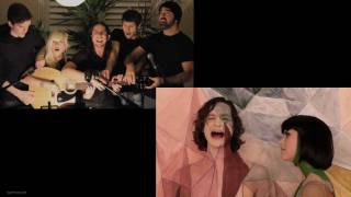 Somebody That I Used to Know - Gotye and Walk off the Earth Together (Side by Side Comparison)
